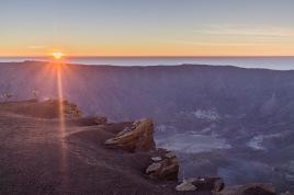 Sunrise over the Mount Tambora crater